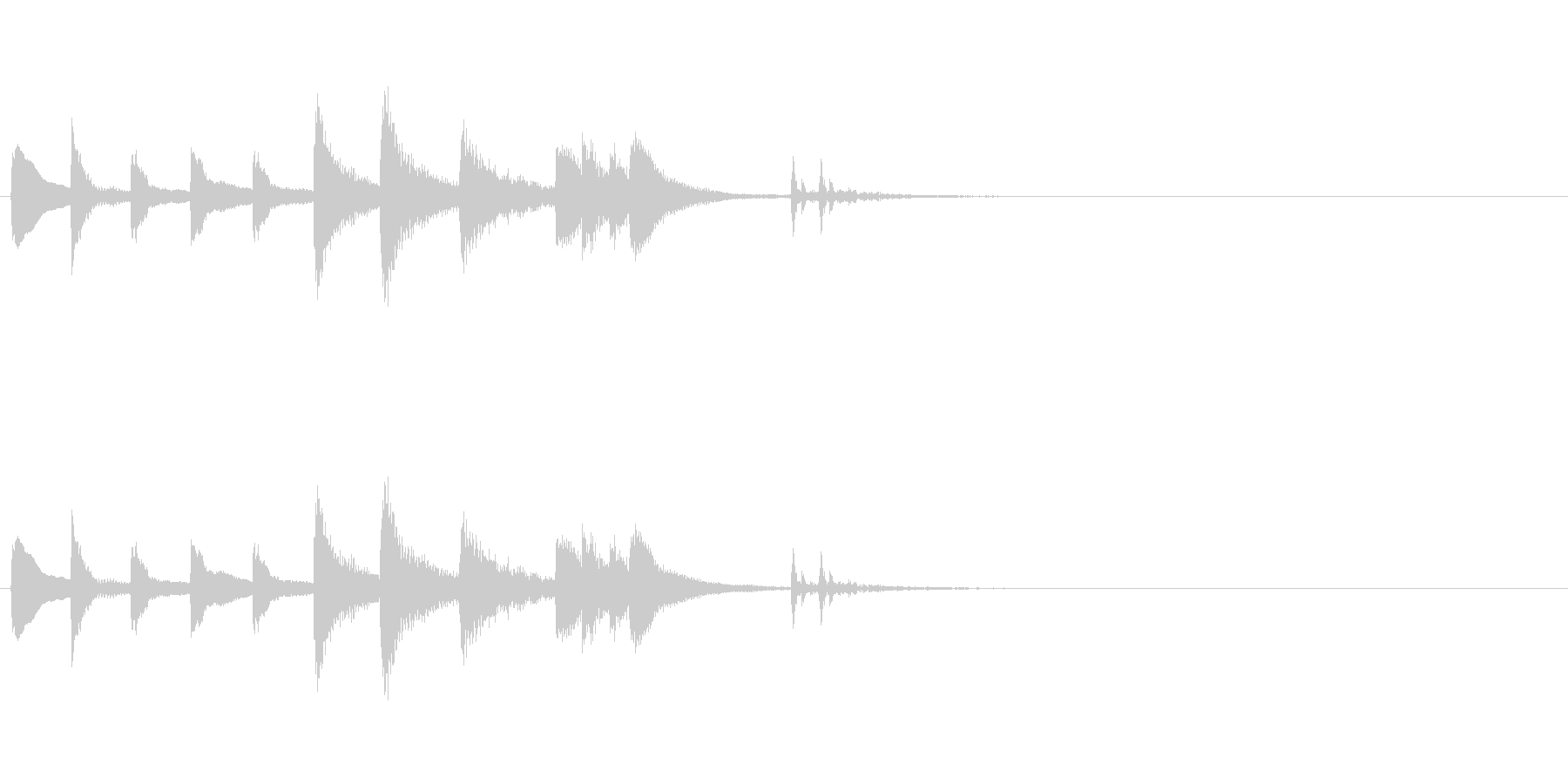 和風効果音 琴1(拍子木あり)の未再生の波形