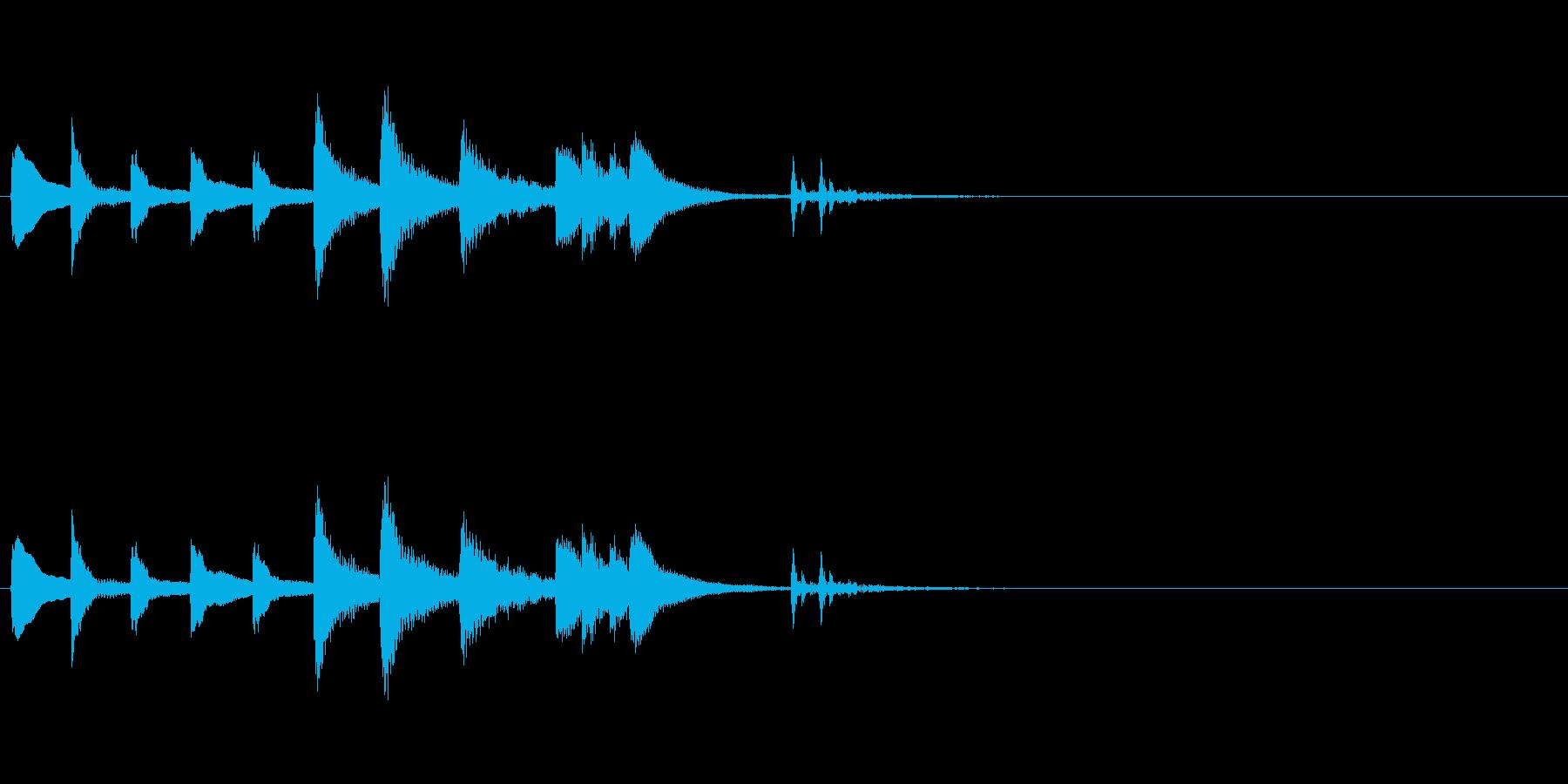 和風効果音 琴1(拍子木あり)の再生済みの波形