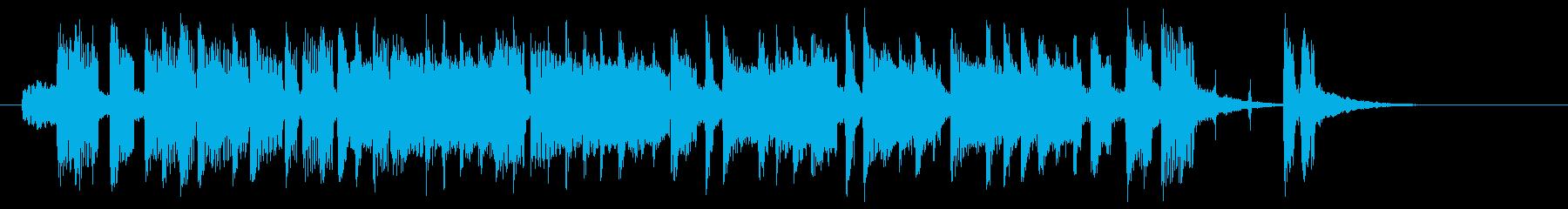 低音が心地よいポップな曲の再生済みの波形