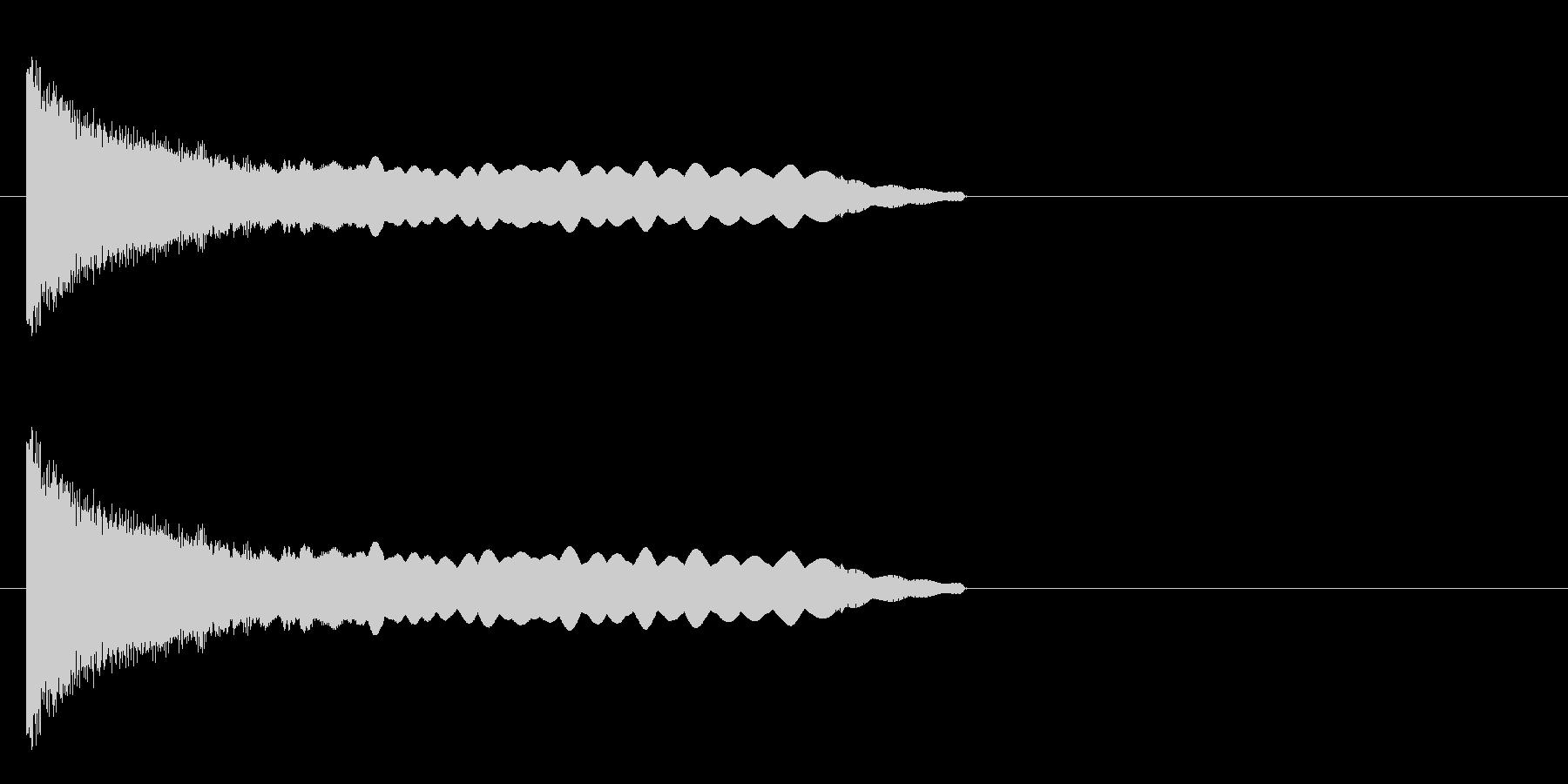 退場 ボツの未再生の波形