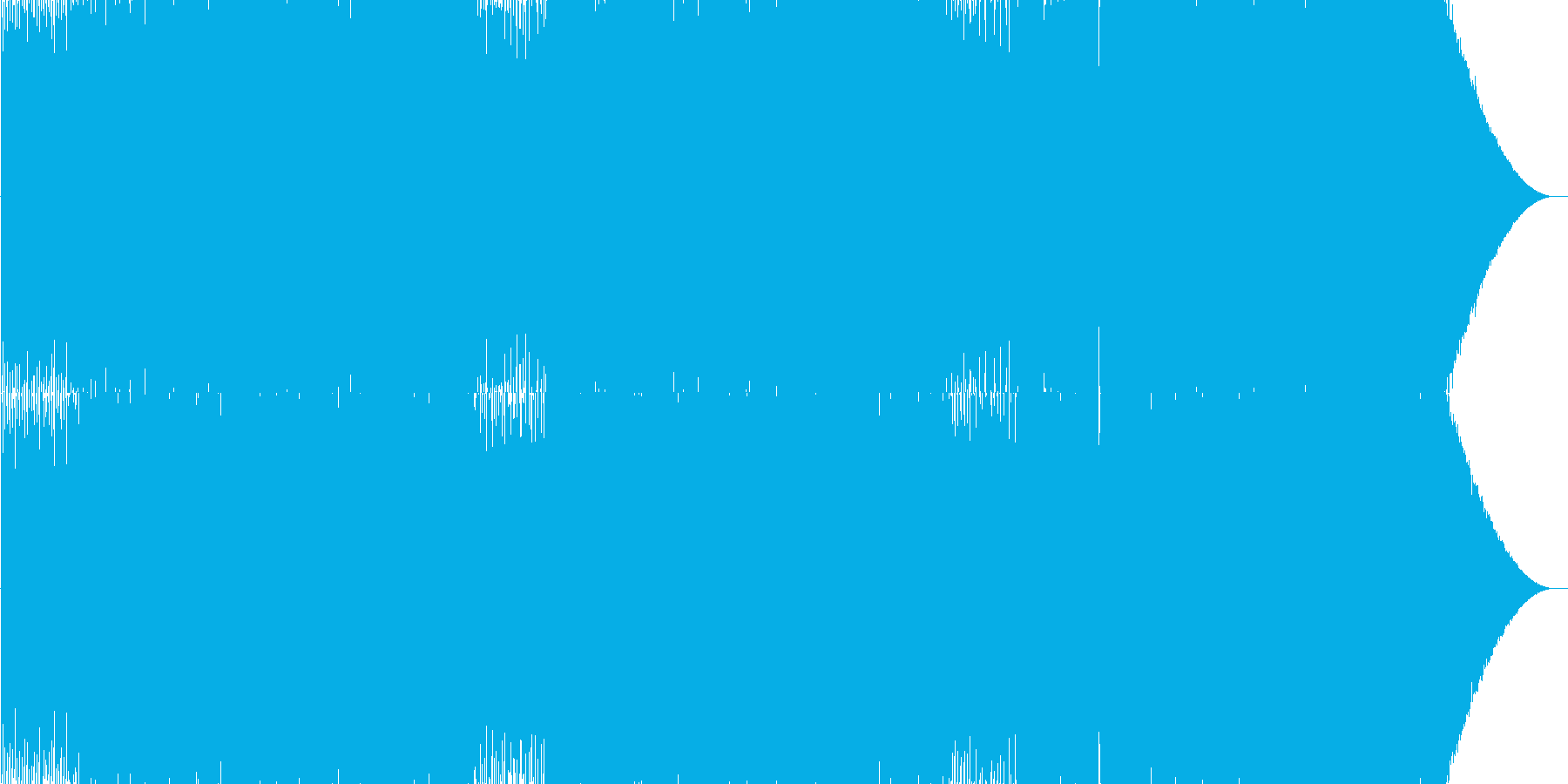 冬にぴったりのBGMの再生済みの波形