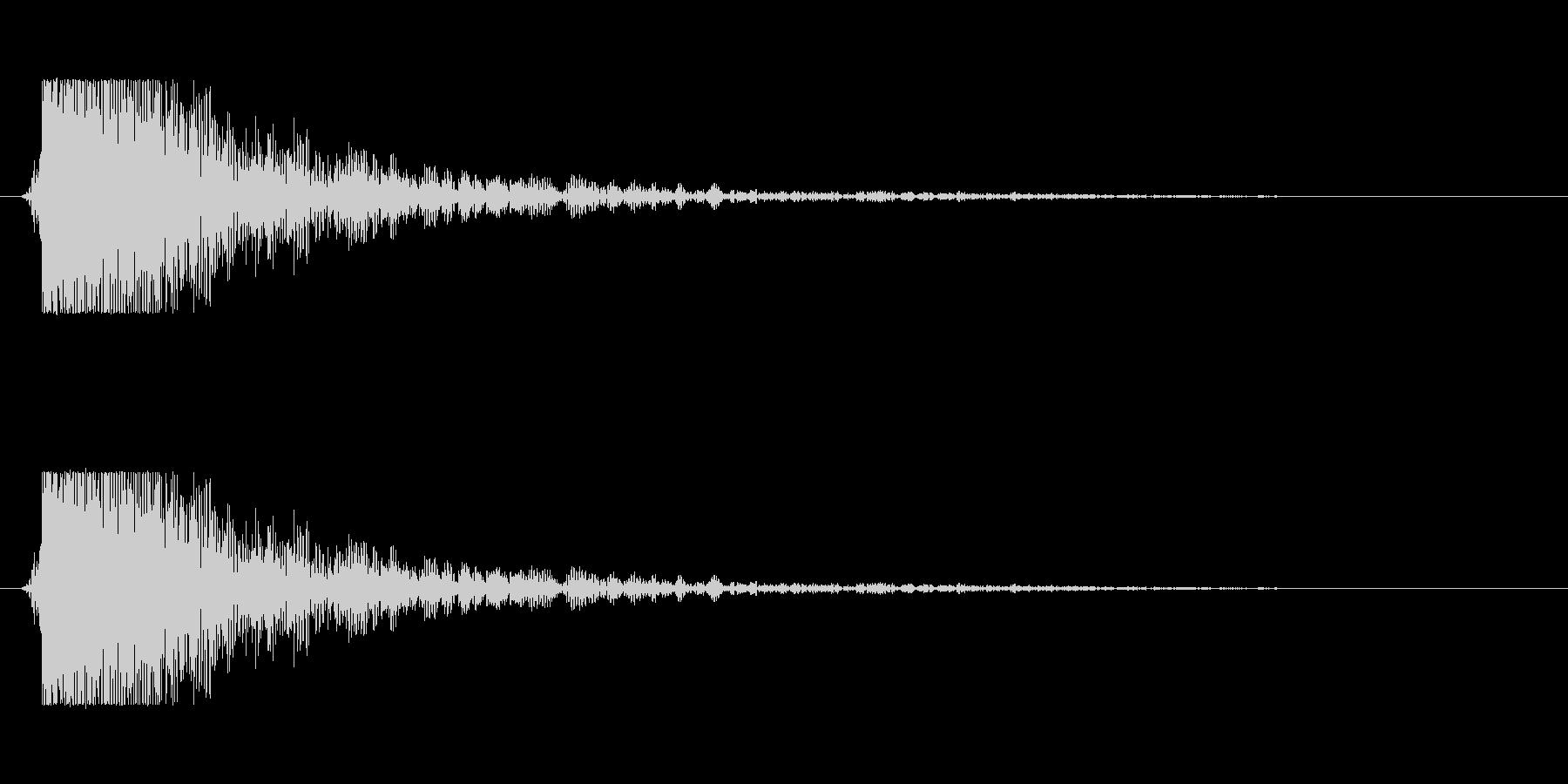【大砲01-3】の未再生の波形