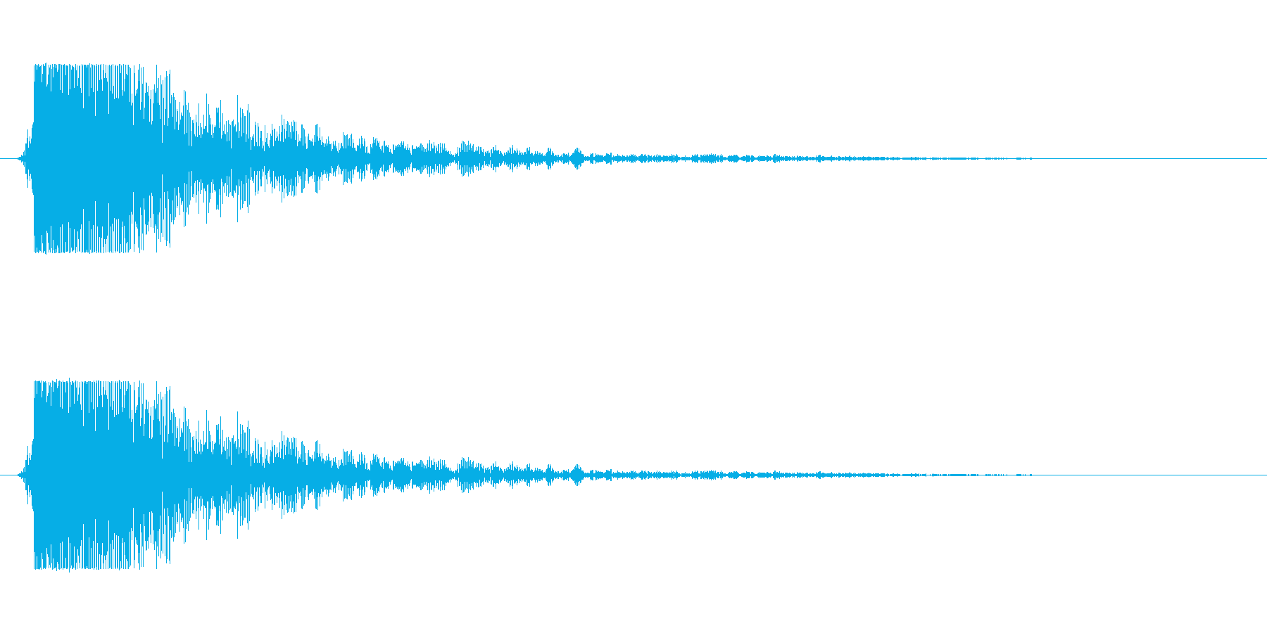 【大砲01-3】の再生済みの波形