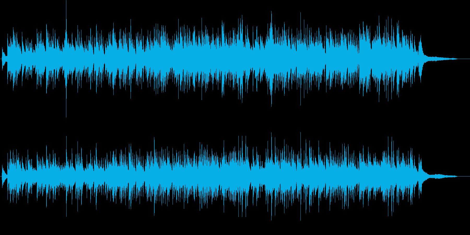 幻想的ピアノ曲の再生済みの波形