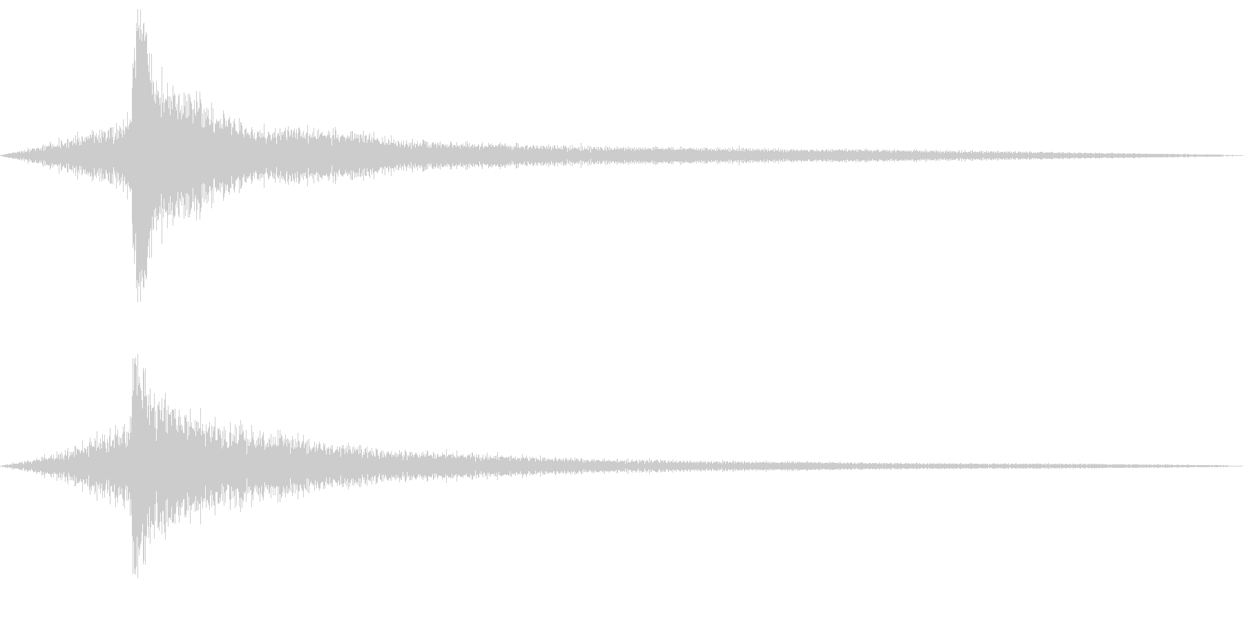 ピアノのモダンなコードのロゴ音1の未再生の波形