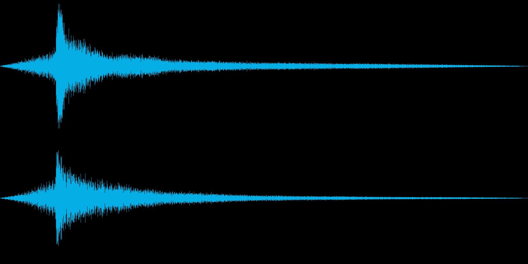 ピアノのモダンなコードのロゴ音1の再生済みの波形