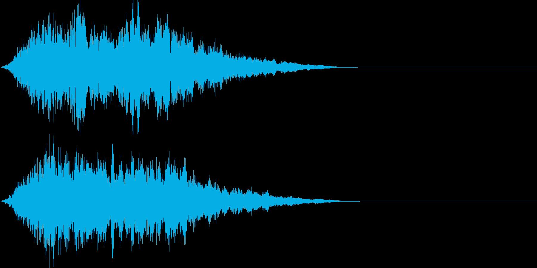 魔法08(防御・光・発動・飛ばす系)の再生済みの波形