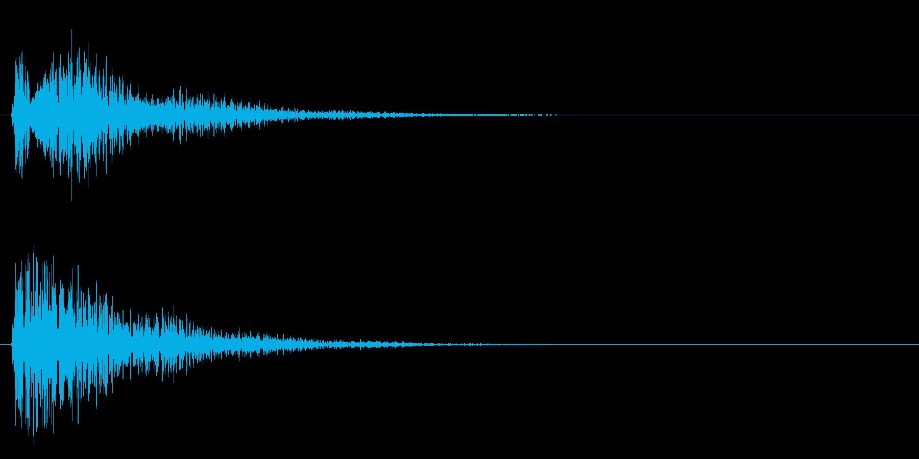 クヮ~~~の再生済みの波形
