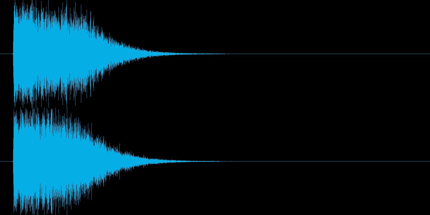 インパクト光りの再生済みの波形