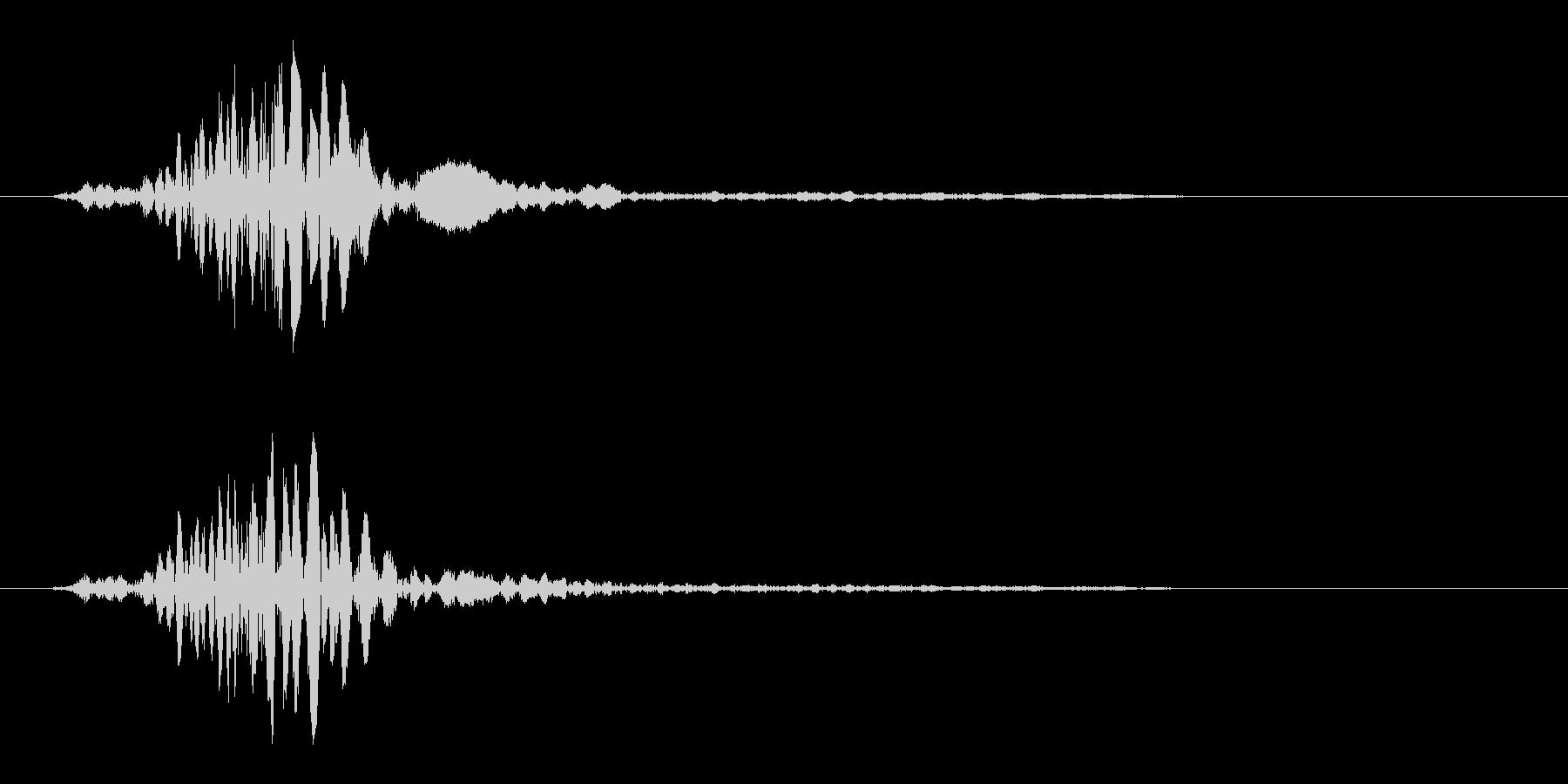 パシッ(多方面で利用可能なシンプルな音)の未再生の波形