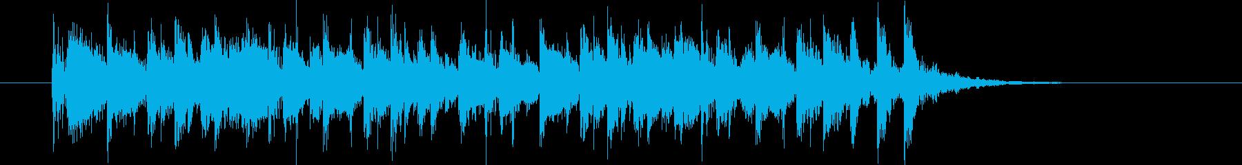 フュージョン風の転換向き10秒ジングルの再生済みの波形