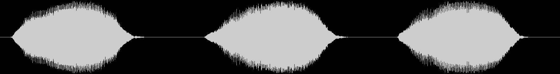 ウシガエルの鳴き声 ブオーゥ×3の未再生の波形