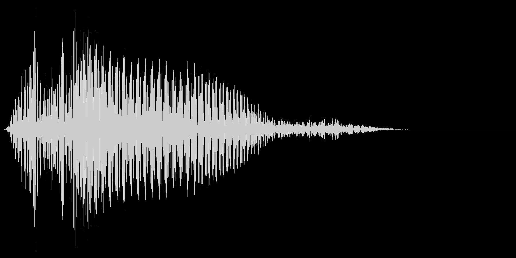 ゲーム掛け声ゾンビ1エー1の未再生の波形