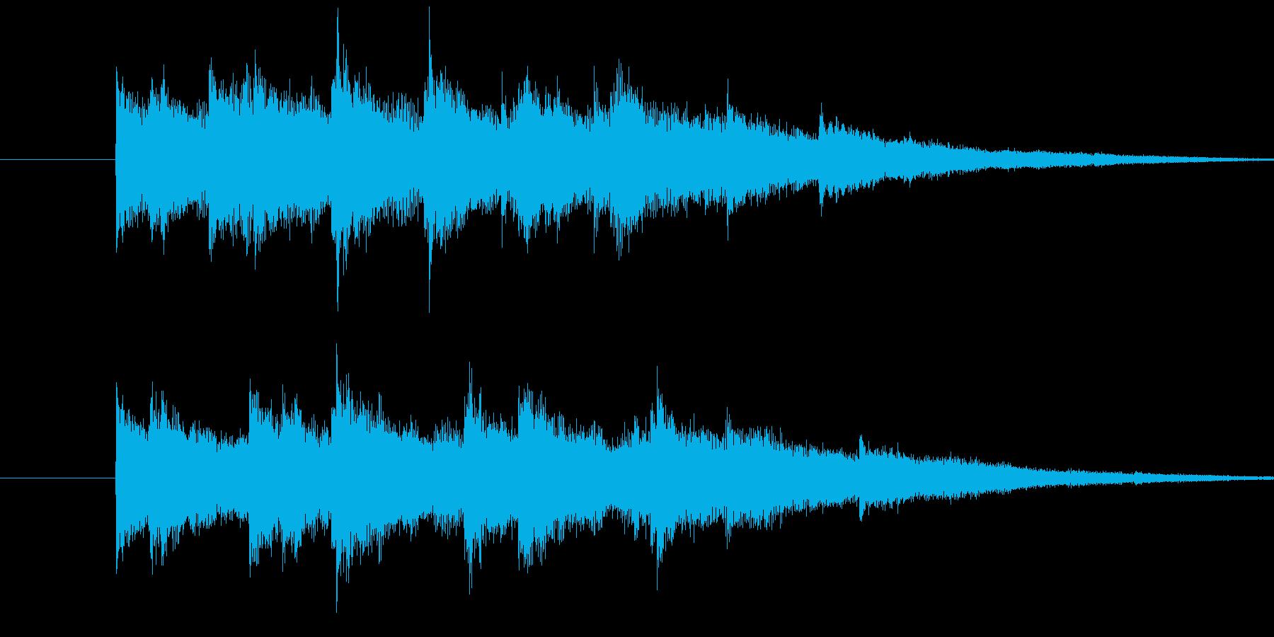 キラキラキラーン(ウインドチャイム)の再生済みの波形