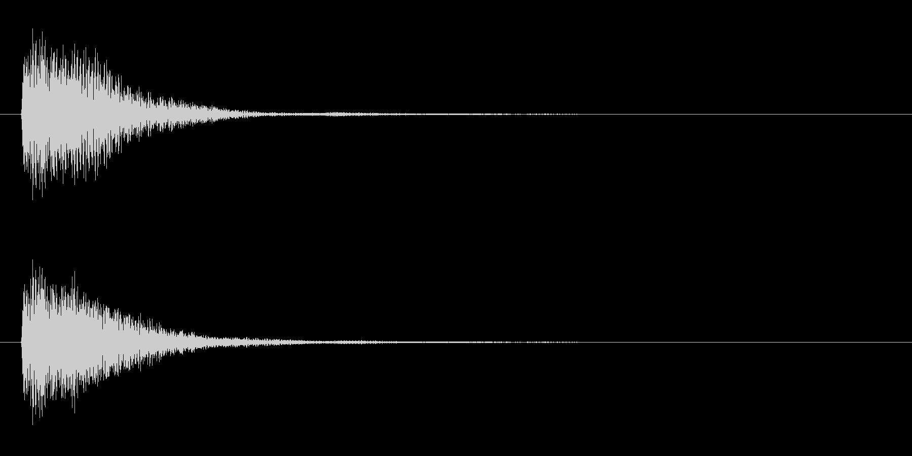 アプリ・ゲームの決定音_012の未再生の波形