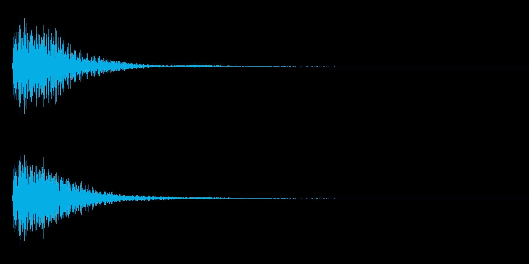 アプリ・ゲームの決定音_012の再生済みの波形