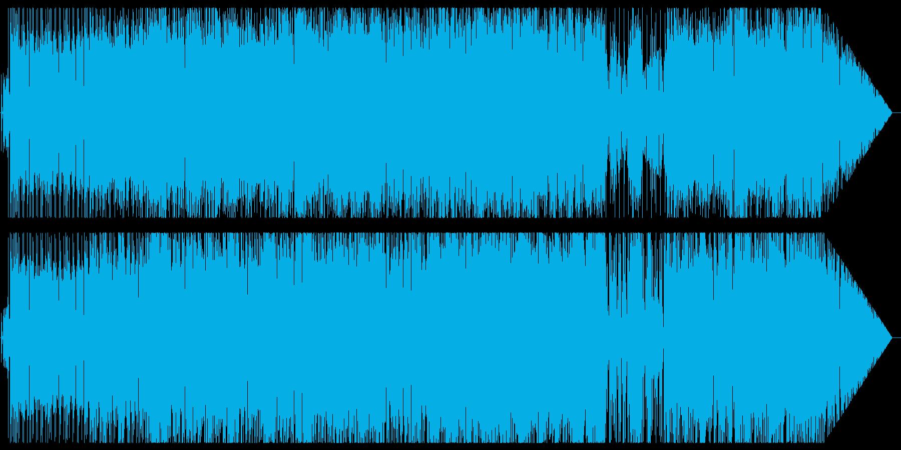 ファンクっぽいバトル曲の再生済みの波形