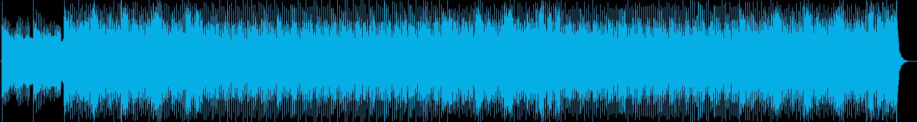 疾走感がありクールなポップハウスの再生済みの波形