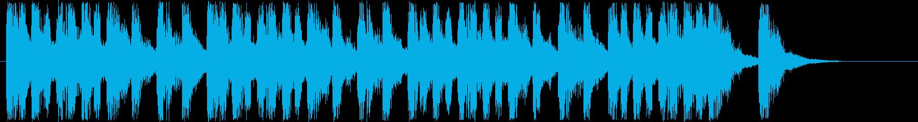 楽しげなシンセサウンド短めの再生済みの波形