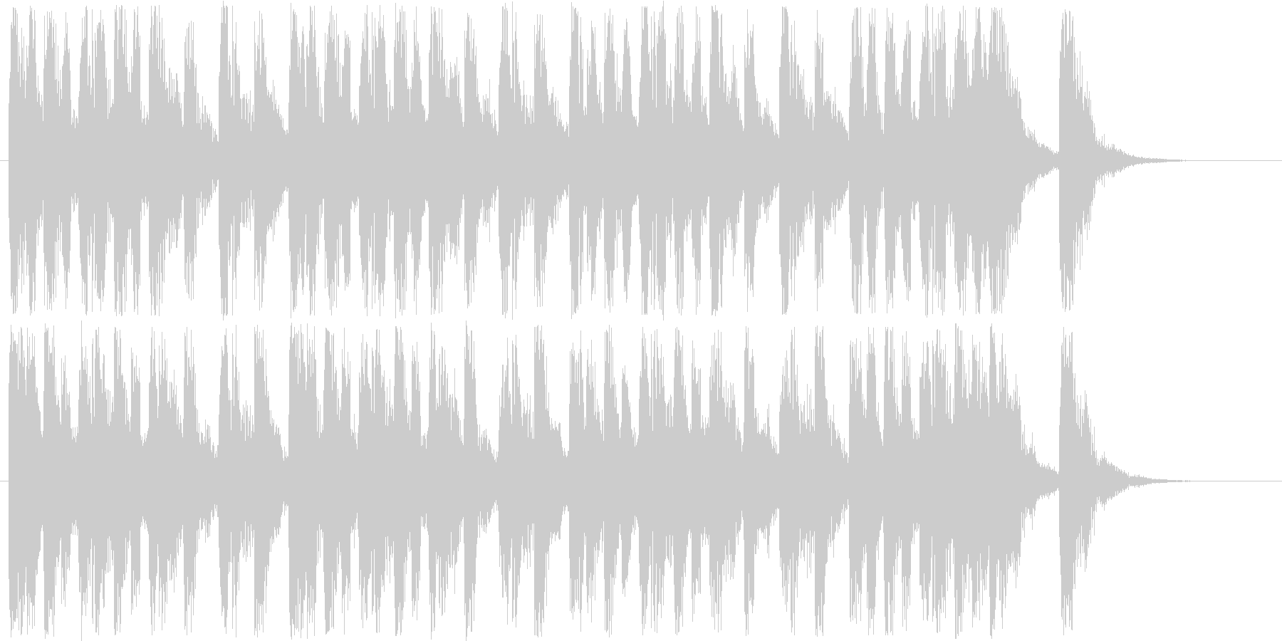 楽しげなシンセサウンド短めの未再生の波形