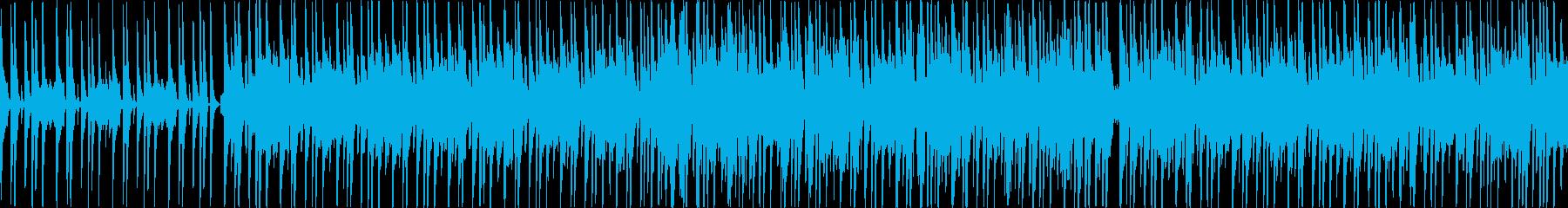 軽快でコミカルなポップスの再生済みの波形