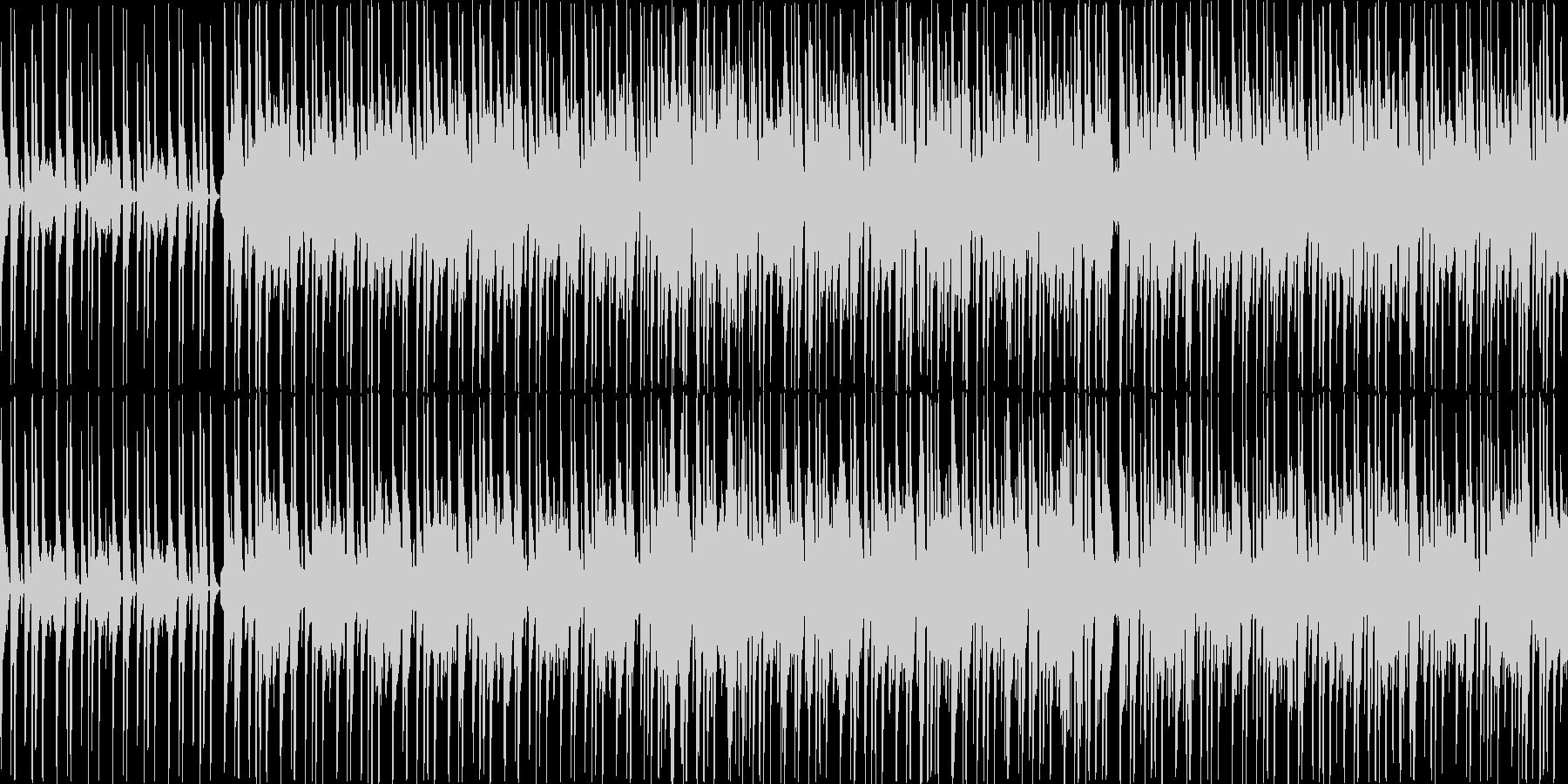 軽快でコミカルなポップスの未再生の波形