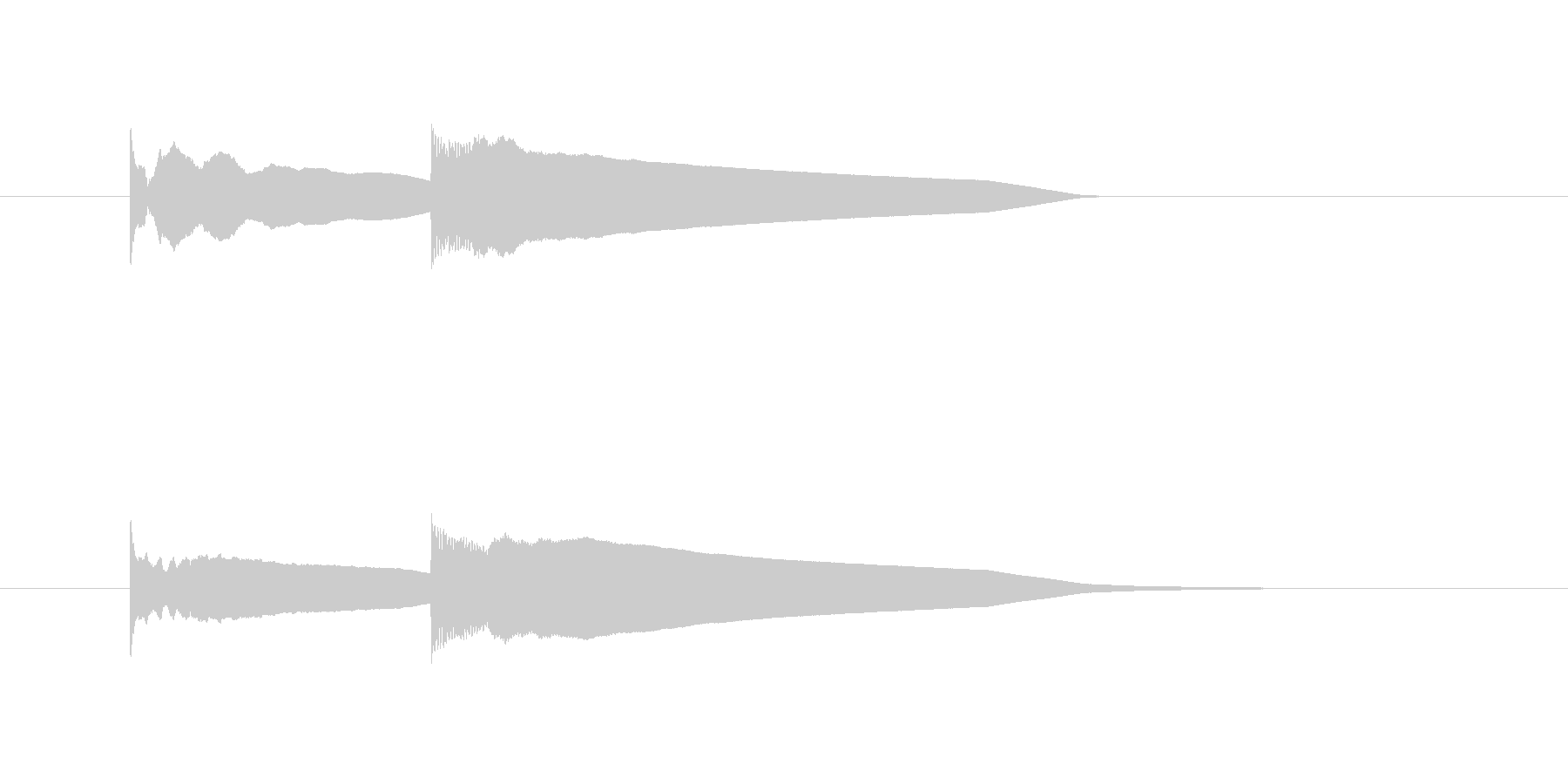 ピンポーンというエレベーター到着音の未再生の波形