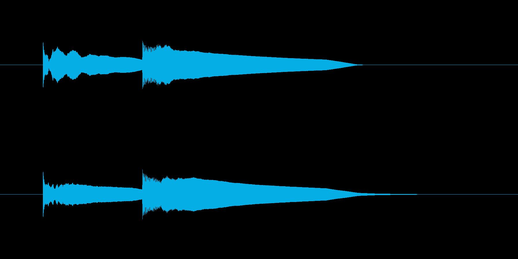ピンポーンというエレベーター到着音の再生済みの波形