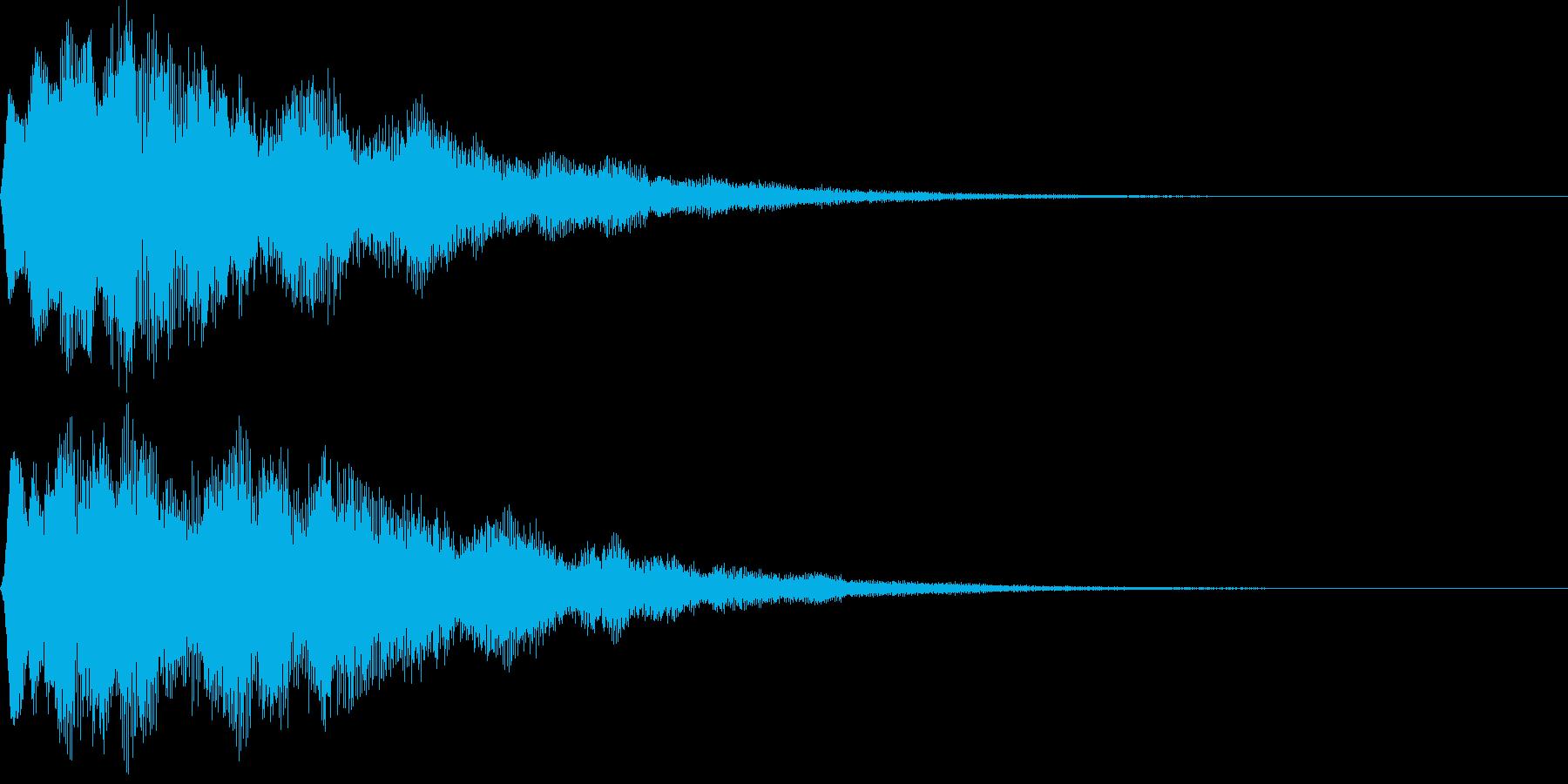 サウンドロゴ16(シンセ系)の再生済みの波形