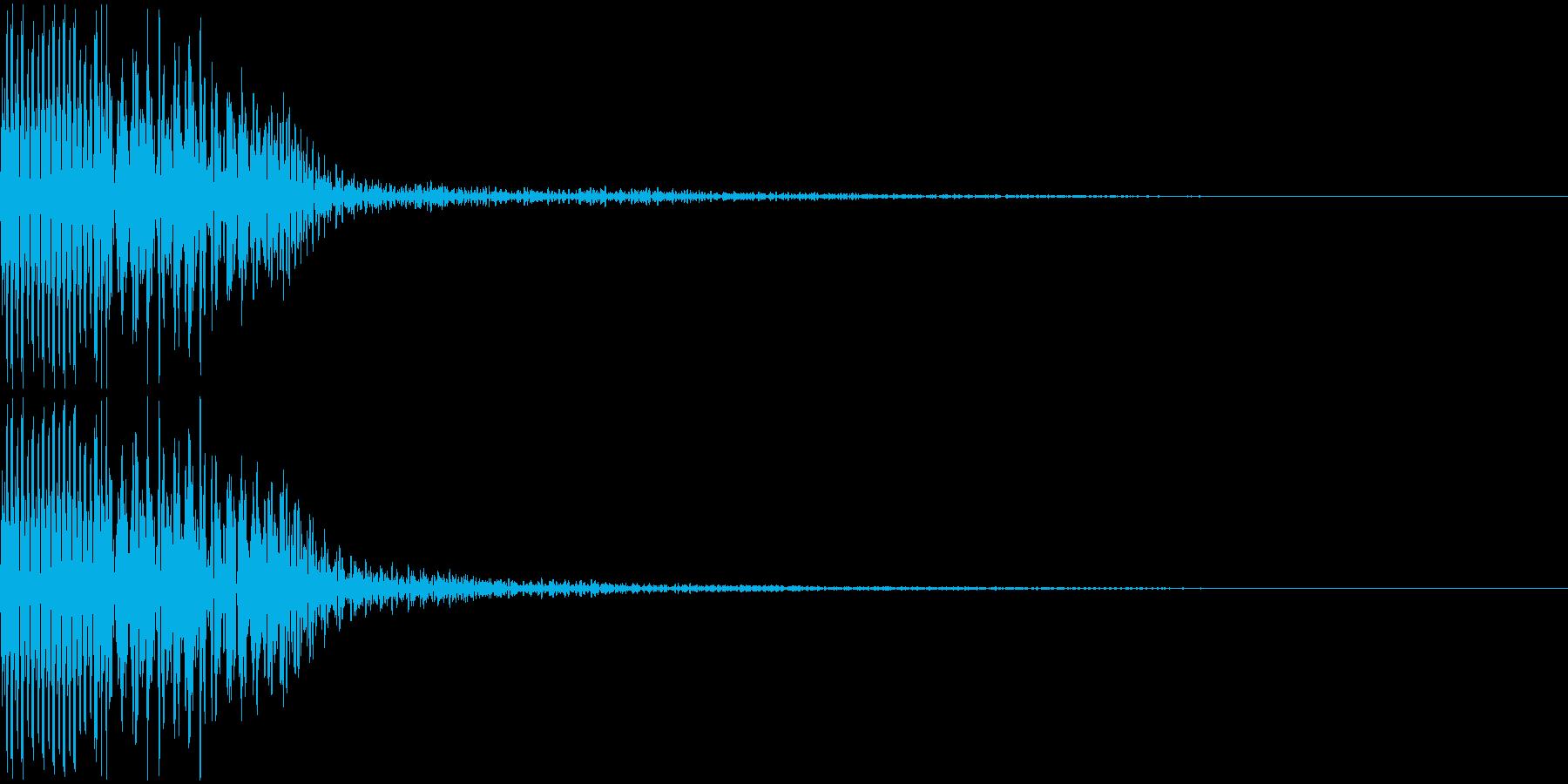 キャンセル、失敗音の再生済みの波形