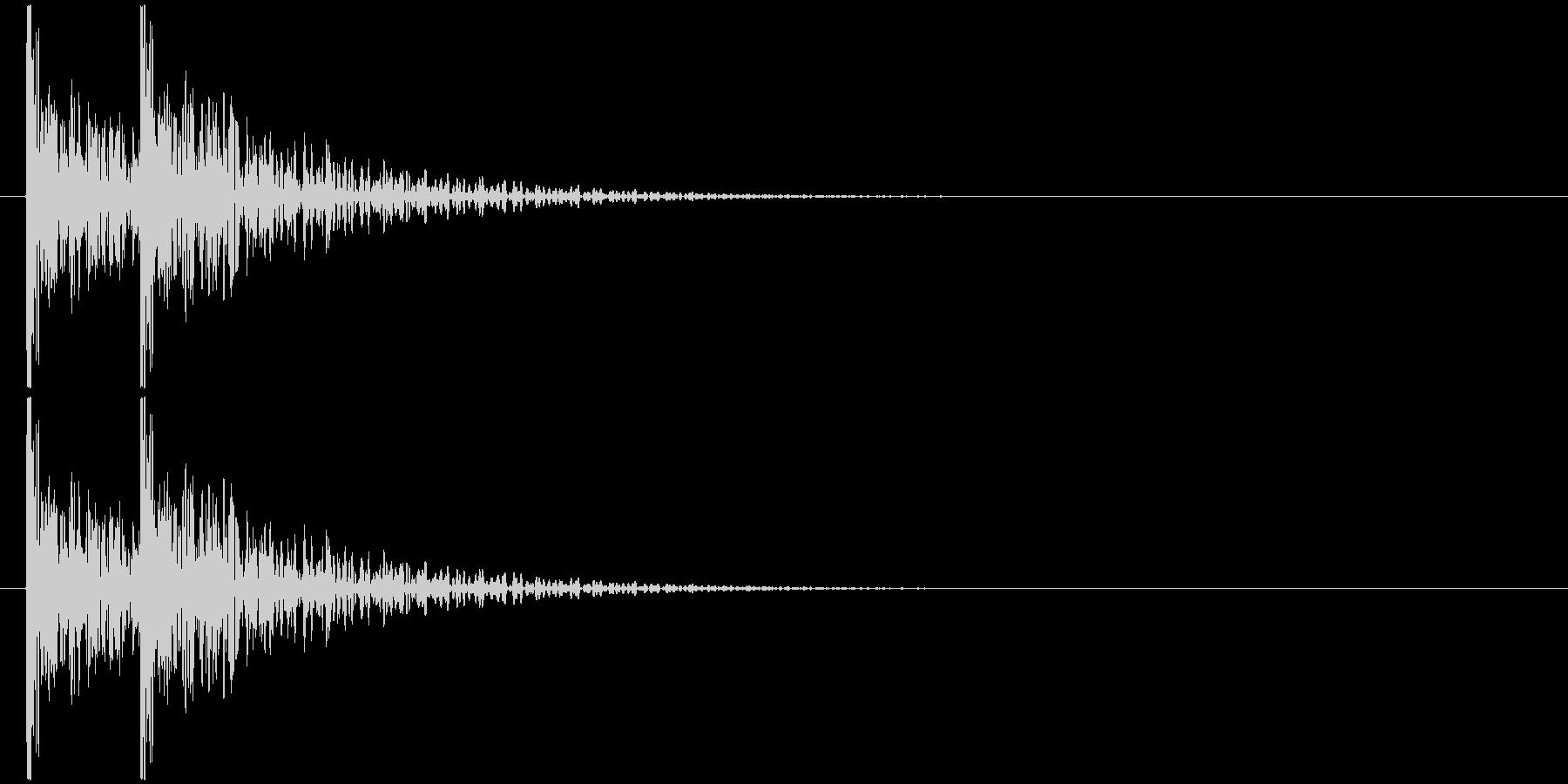 コンコン! (扉をノック・2回)-Bの未再生の波形