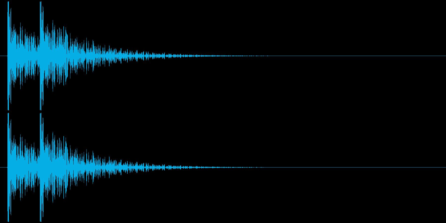 コンコン! (扉をノック・2回)-Bの再生済みの波形
