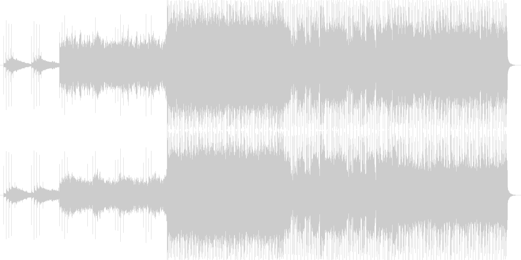 ギターリフが特徴的なロックの未再生の波形