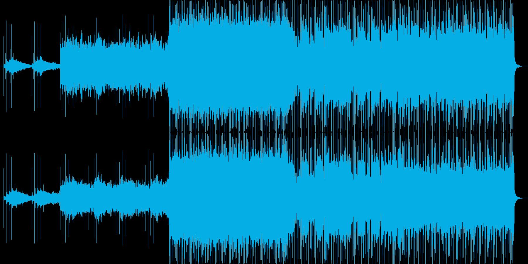 ギターリフが特徴的なロックの再生済みの波形