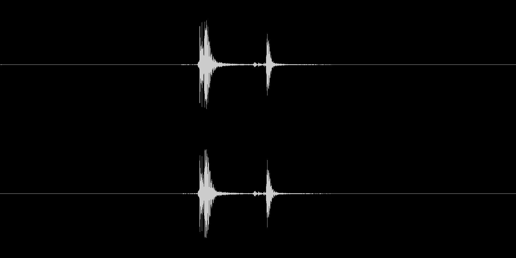重火器のトリガー音。の未再生の波形