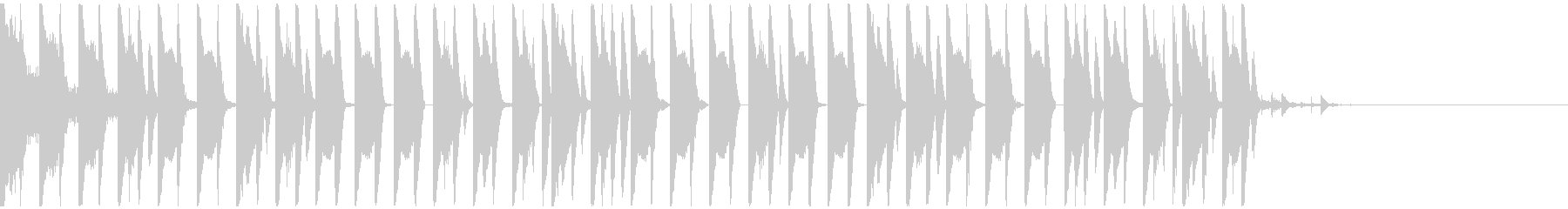オシャレ・戦闘・スリリングEDM、②の未再生の波形