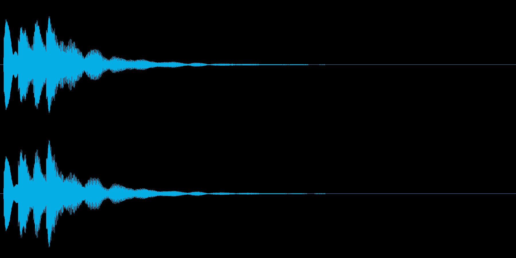 クイズ 正解音や効果音。ピコピコ♪の再生済みの波形