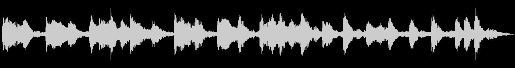 赤ちゃんが遊ぶほのぼのCM向けピアノ曲の未再生の波形