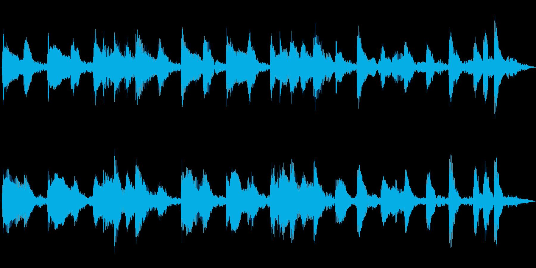 赤ちゃんが遊ぶほのぼのCM向けピアノ曲の再生済みの波形