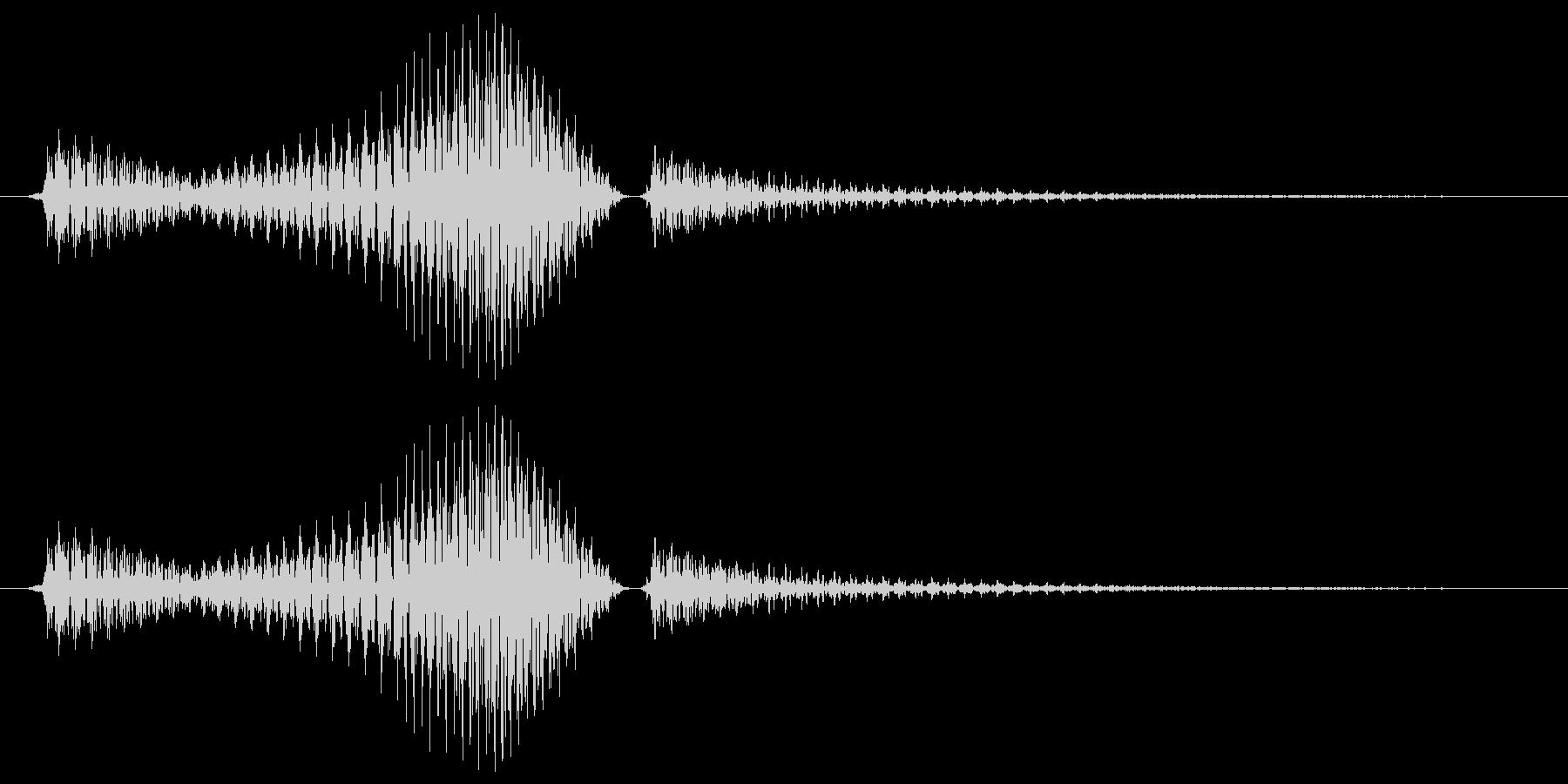 ライトセーバー風SE_振り払う時の音の未再生の波形