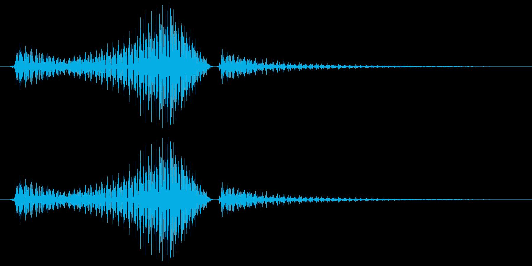 ライトセーバー風SE_振り払う時の音の再生済みの波形