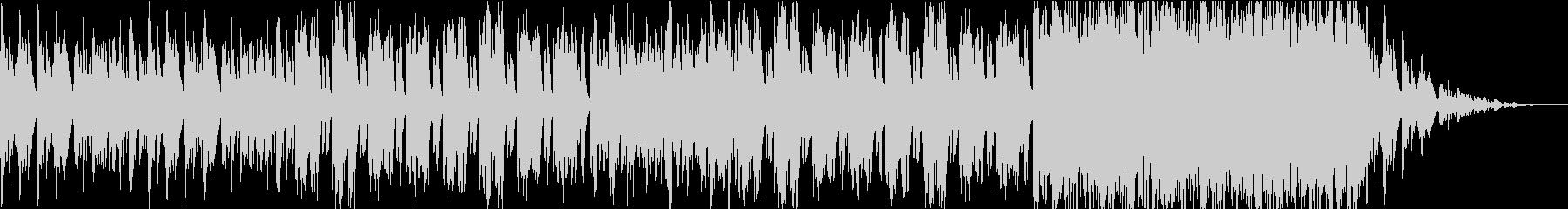 ハープの穏やかで物悲しい楽曲の未再生の波形