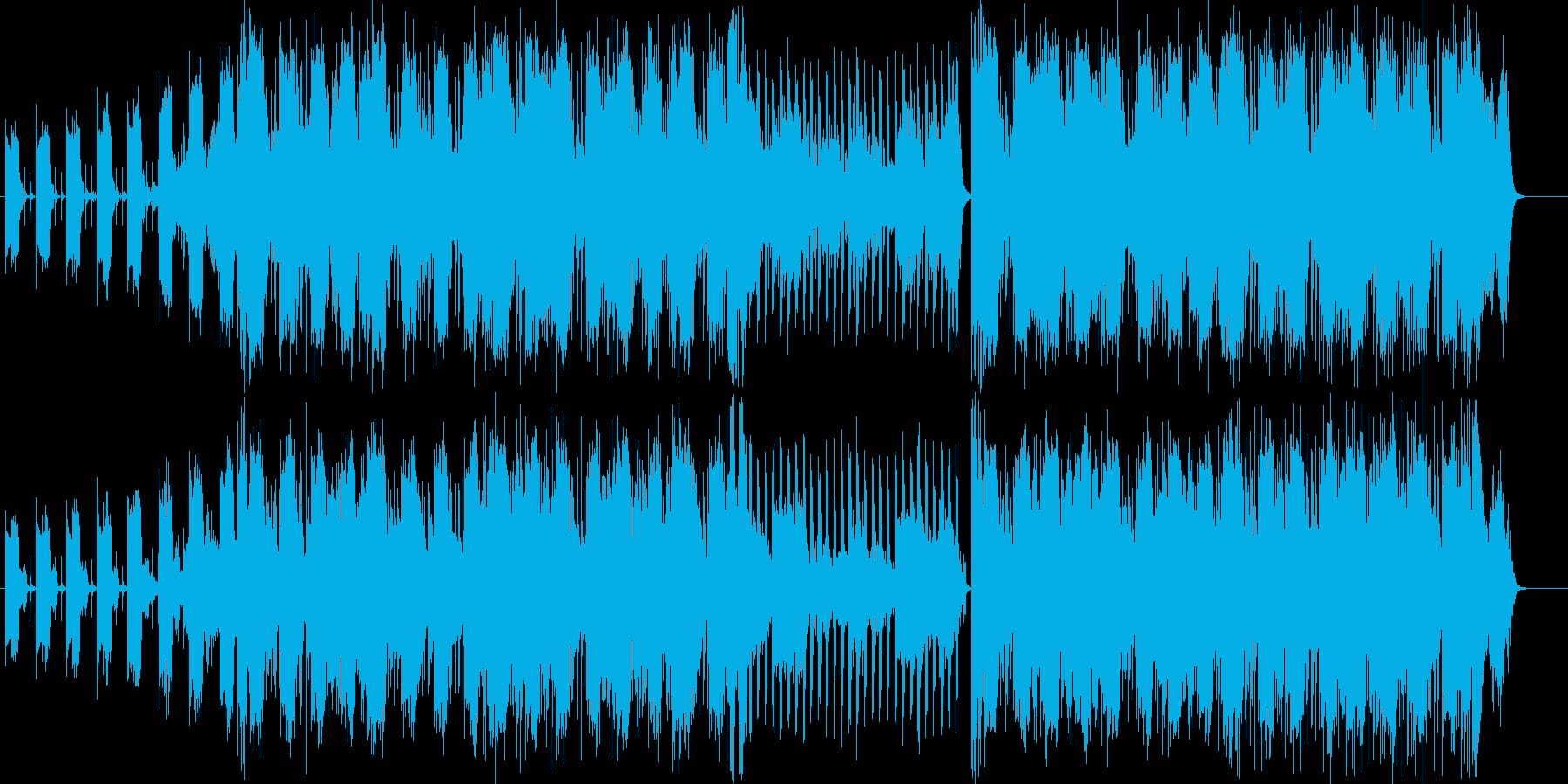 何かの事件を追っているようなイメージの曲の再生済みの波形