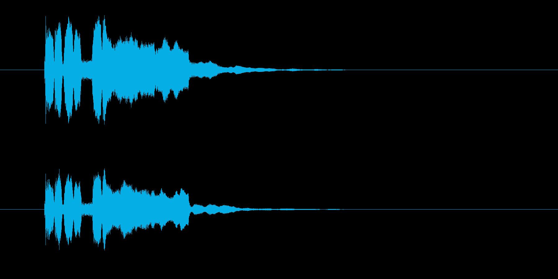 正解した時のパラララッパラーという効果音の再生済みの波形