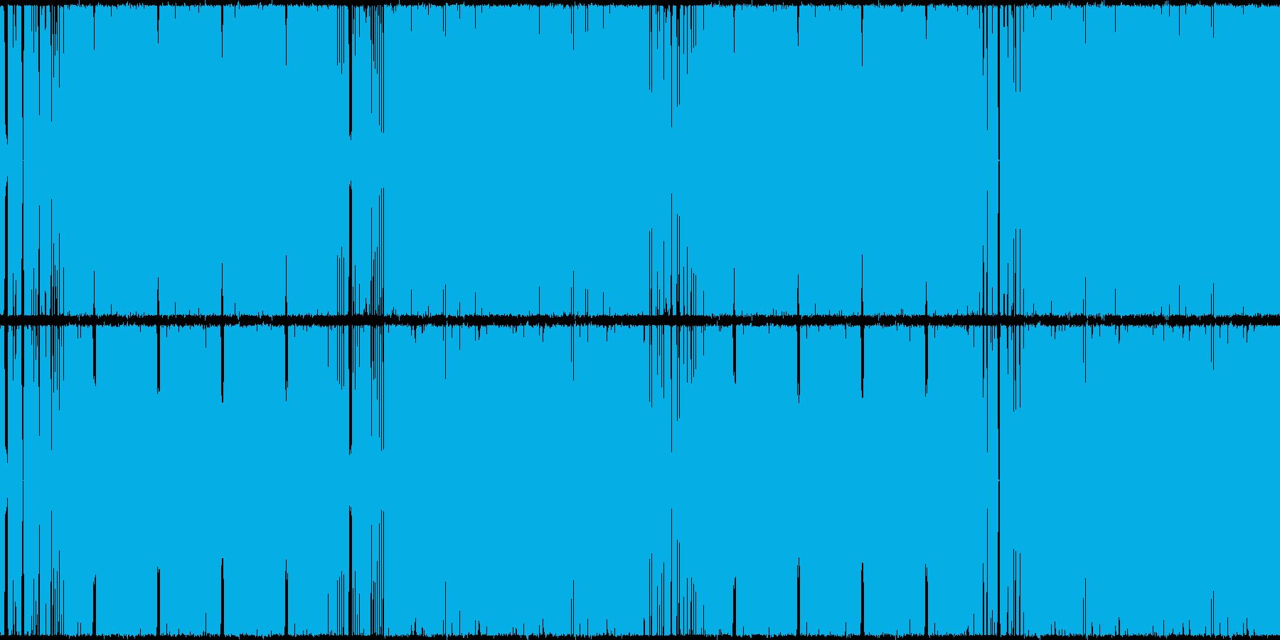 ループ対応のDubstepドロップの再生済みの波形