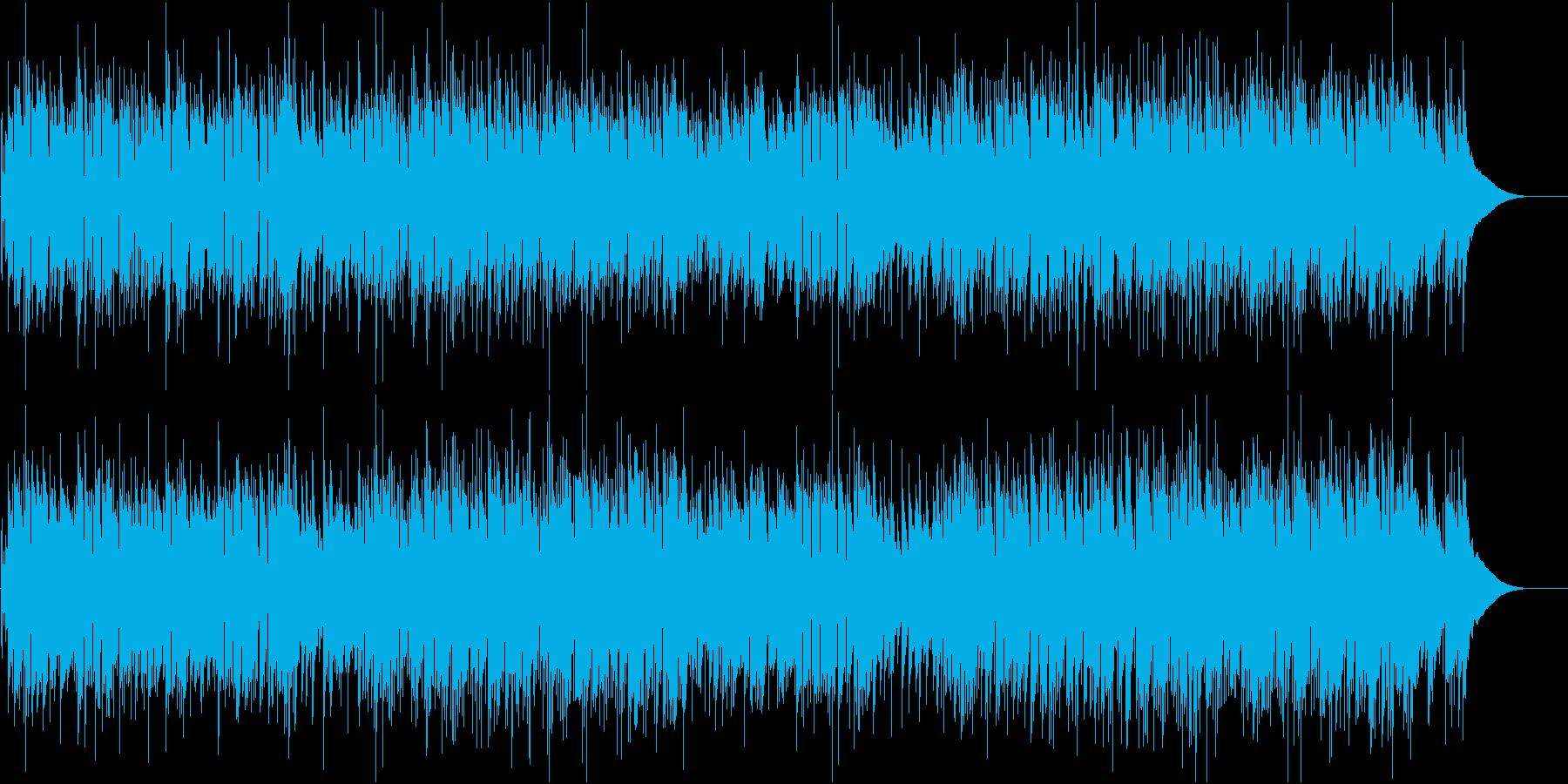 優しい生ギターインストの再生済みの波形