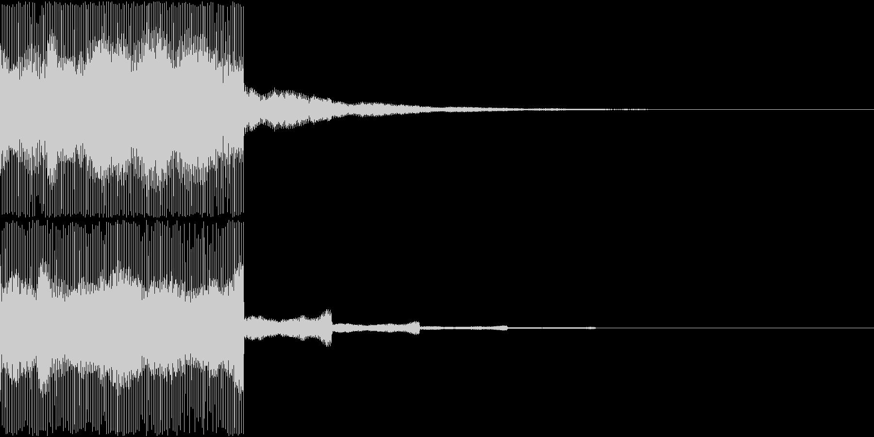 【SE 効果音】電気音の未再生の波形