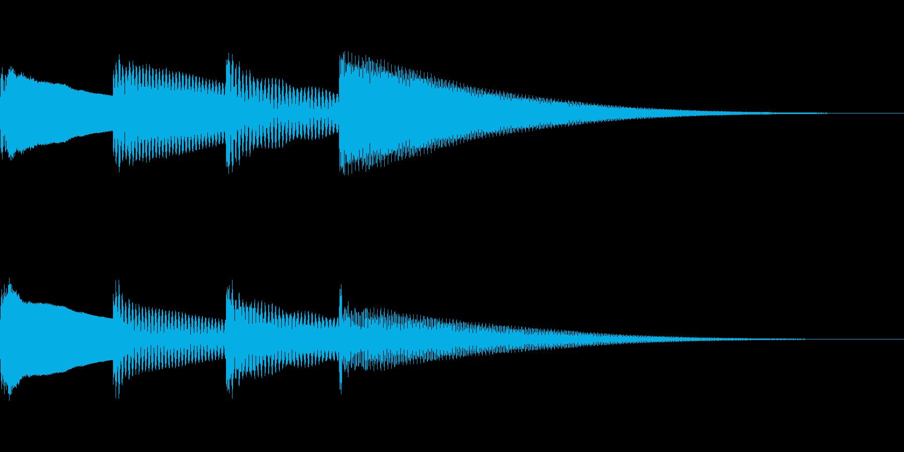 アナウンスのチャイム。ピンポンパンポーンの再生済みの波形