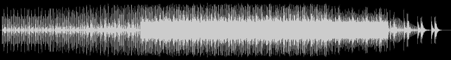 徐々に盛り上がるチップチューンの未再生の波形