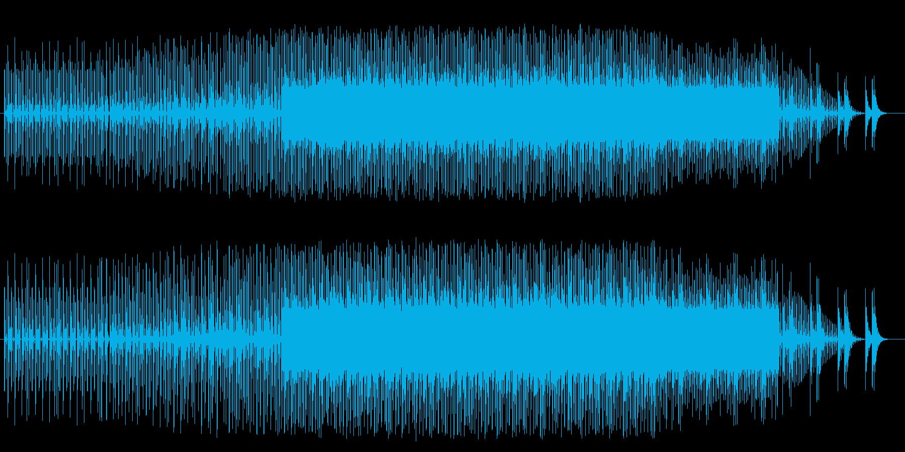 徐々に盛り上がるチップチューンの再生済みの波形